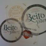 Matpapir med logo fra Beito ysteri.
