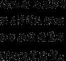 Alfabet som illustrerer en av fontene du kan velge til dine klistremerker.