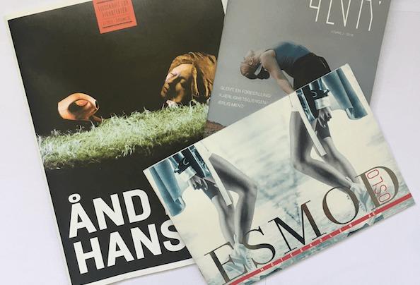 3 eksempler på brosjyrer vi har levert.